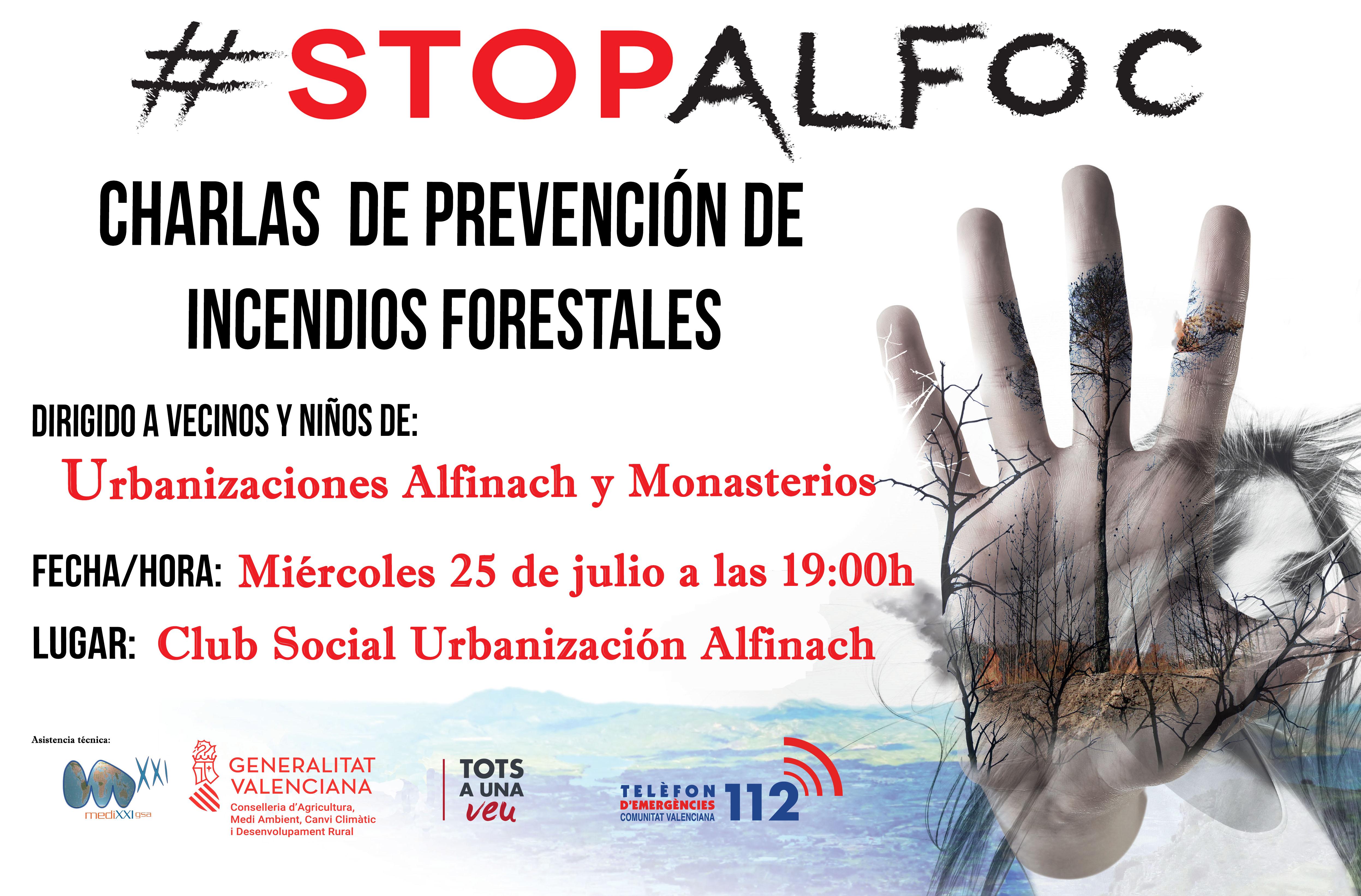 Prevención Incendios Forestales Campaña STOPALFOC
