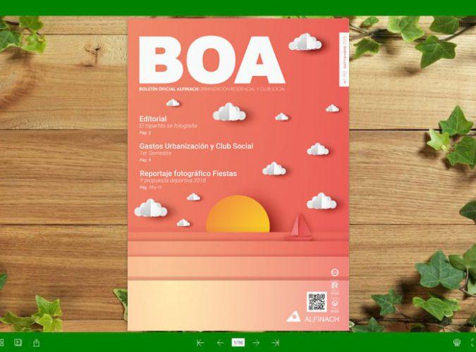 Nuevo B.O.A – nº192<br>Septiembre 2018