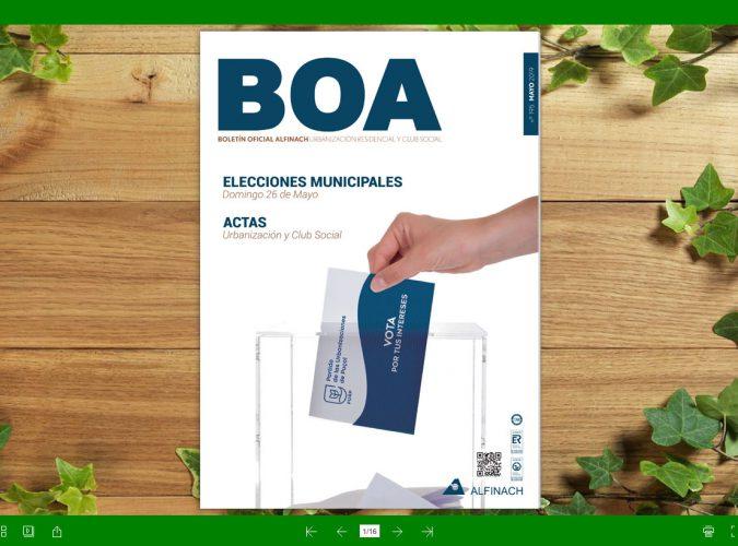 Nuevo B.O.A – nº195<br>Mayo 2019