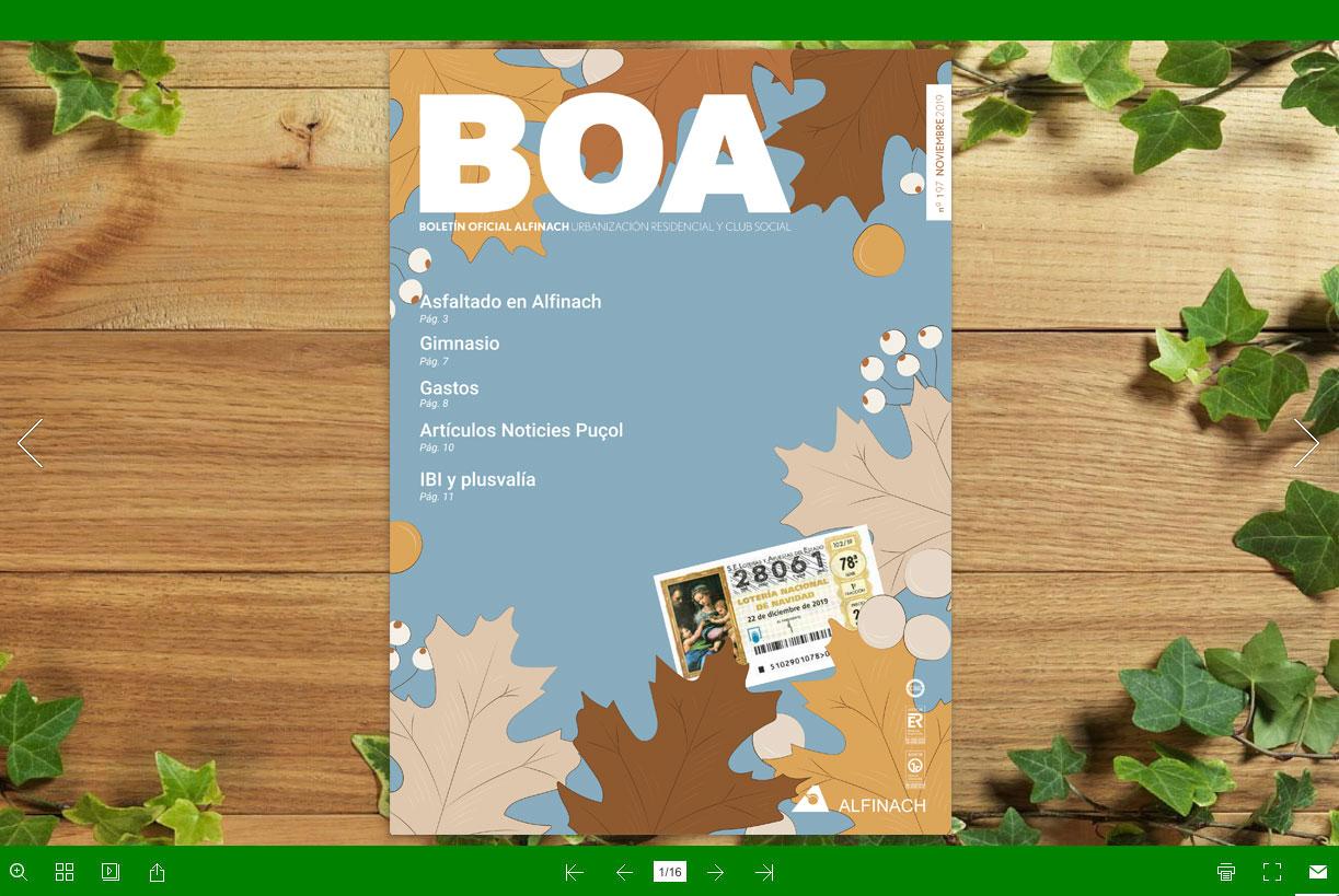 Nuevo B.O.A – nº197<br>Noviembre 2019