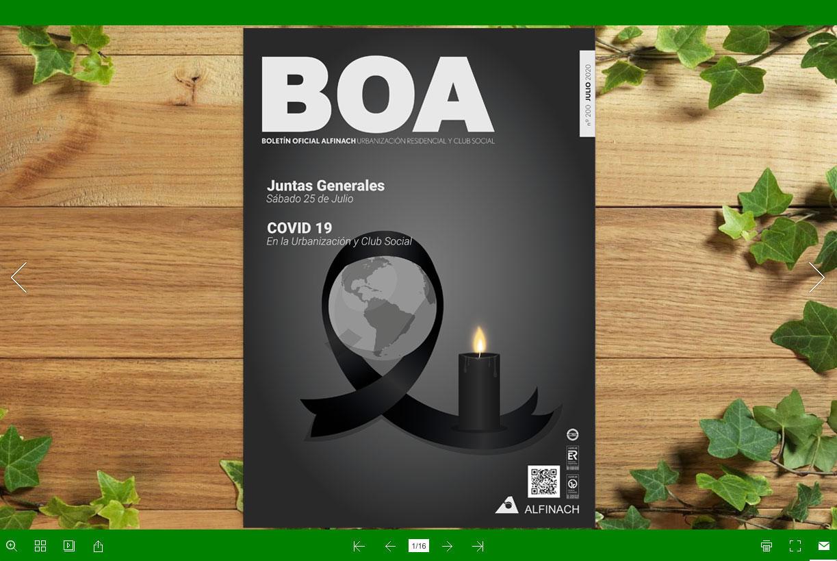 Nuevo B.O.A – nº200<br>Julio 2020